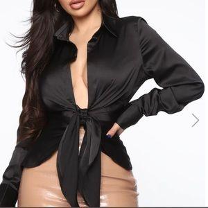 Deep cut fashionable blouse